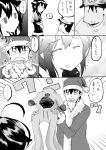 ... 1boy 1girl admiral_(kantai_collection) ahoge animal_costume comic dog_costume flying_sweatdrops hat ichiei kantai_collection monochrome santa_costume santa_hat school_uniform serafuku shigure_(kantai_collection) smile tagme translated