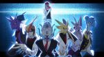 dr.k formal highres lapras nidoking omastar personification pidgeot poke_ball pokemon red_(pokemon) suit twitch_plays_pokemon venomoth zapdos