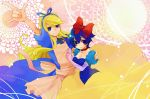 alice_(wonderland)_(cosplay) alice_in_wonderland apron blonde_hair blue_eyes blue_hair breasts cleavage cosplay crossdress dress elbow_gloves gloves grimm's_fairy_tales kuma_(persona_4) persona persona_4 sayu030b shirogane_naoto short_hair snow_white snow_white_(cosplay) snow_white_(grimm) snow_white_and_the_seven_dwarfs trap