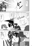 3girls ahoge alternate_costume comic cosplay double_bun dragon_quest dragon_quest_iii hairband hiei_(kantai_collection) hiyoko_(chick's_theater) kantai_collection kirishima_(kantai_collection) kongou_(kantai_collection) long_hair mage_(dq3) mage_(dq3)_(cosplay) monochrome multiple_girls parody roto roto_(cosplay) sage_(dq3)_(cosplay) translated