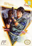 1boy black_hair cosplay glasses gun hideo_kojima metal_gear_(series) nintenboy parody solid_snake_(cosplay) solo weapon