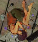barefoot cable computer_mouse controller dell feet flower game_controller headphones ica_ditte ikezawa_kazuma instrument keyboard keyboard_(instrument) male morning_glory playstation_3 popsicle rouki_isago solo summer_wars tatami wire