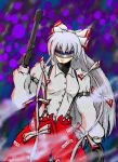 1girl auto-9 fujiwara_no_mokou ko_yo robocop robocop_(cosplay) touhou