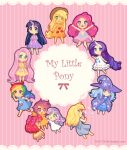 +_+ apple_bloom applejack blonde_hair blue_dress blue_eyes blue_hair blush bubble cape cowboy_hat dav-19 derpy_hooves dress fluttershy food_themed_clothes freckles green_eyes grey_dress happy hat horn long_hair multicolored_hair multiple_girls my_little_pony my_little_pony_friendship_is_magic open_mouth orange_dress personification pink_dress pink_hair pinkie_pie purple_dress purple_hair rainbow_dash rarity redhead scootaloo short_hair smile sweetie_belle trixie_(my_little_pony) twilight_sparkle violet_eyes white_dress wings wizard_hat yellow_dress