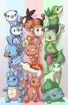 :d bulbasaur charmander chikorita chimchar closed_eyes cyndaquil fire mary_cagle mudkip no_humans open_mouth oshawott piplup pokemon pokemon_(creature) pokemon_(game) red_eyes smile snivy squirtle tepig torchic totodile treecko turtwig