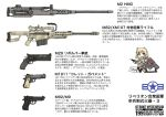 anti-materiel_rifle barrett_m82 beretta_92 browning_m2 chibi gun handgun m1911 machine_gun ogitsune_(ankakecya-han) pistol revolver rifle s&w_m29 sniper_rifle strike_witches strike_witches_1991 translation_request uniform weapon