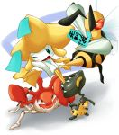 calligraphy_brush crombaster jirachi kingler mawile nintendo no_humans paintbrush pokemon tears