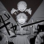 ? amagi_yukiko faceless flashlight hanamura_yousuke kujikawa_rise monochrome persona persona_3 persona_4 persona_4:_the_ultimate_in_mayonaka_arena persona_4_the_golden sweatdrop t0kiwa tatsumi_kanji yamagishi_fuuka
