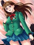 glasses original red_eyes school_uniform solo yaso_shigeru