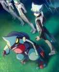blue_hair li_sakura pokemon pokemon_(creature) pokemon_(game) pokemon_dppt team_galactic team_galactic_grunt toxicroak