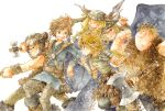 2girls 4boys armor armored_dress astrid_hofferson blonde_hair blue_eyes boots braid brown_hair circlet dragon dragon_wings fishlegs_ingerman helmet hiccup_horrendous_haddock_iii horned_helmet horns how_to_train_your_dragon ina_(gonsora) long_hair multiple_boys multiple_girls pantyhose ruffnut_thorston single_braid skirt smile snotlout_jorgenson toothless tuffnut_thorston western_dragon wings