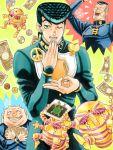 3boys 96kuroie coin gakuran harvest_(stand) higashikata_jousuke jojo_no_kimyou_na_bouken money multiple_boys nijimura_okuyasu school_uniform stand_(jojo) yangu_shigekiyo