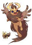 emererre flareon fusion no_humans noctowl pixelated pokemon pokemon_(creature) pokemon_(game)