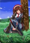 brown_eyes brown_hair highres koyama_takahiro military military_uniform senjou_no_valkyria senjou_no_valkyria_1 thigh-highs thighhighs twintails uniform