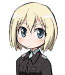 blue_eyes erica_hartmann military military_uniform short_hair strike_witches uniform