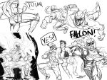 2boys aura battle boxing_gloves captain_falcon collage crosscounter diepod helmet kicking little_mac manly multiple_boys nintendo powering_up punch-out!! punching scarf sketch super_smash_bros.