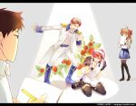 crossdressing flower gekkan_shoujo_nozaki-kun hori_masayuki maid mikoshiba_mikoto nozaki_umetarou sakura_chiyo school_uniform sparkle spotlight winglayer