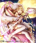 1girl blonde_hair moon shingeki_no_bahamut sky ss39 star_(sky) starry_sky