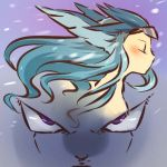 angry articuno blue_hair blush circlet closed_eyes dragon_ball dragon_ball_z eyes frieza head_wings hitec long_hair moemon namesake personification pokemon pokemon_(game) pokemon_rgby pun purple_eyes snow