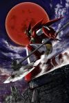 blood full_moon getter-1 getter_robo iwata_kiyohiko mecha moon new_getter_robo red_moon solo weapon wind
