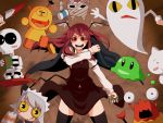 character_request demon_girl futaba_channel head_wings headwings kiteretsu_daihyakka koakuma korosuke long_hair nenaiko_dare_da nijiura_maids puyopuyo red_eyes red_hair redhead skeleton_t thigh-highs thighhighs touhou tsumidango wings yabai