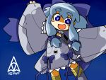 ace_combat_04 blue_eyes blue_hair bow character_request f-22 hair_bow isaf mecha_musume mobius_1 personification solo ugif