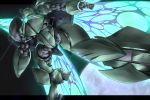 butterfly_wings energy_wings glowing gomi_kushige gundam mecha moonlight_butterfly turn_a_gundam turn_x wings