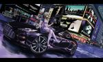 1girl acog ad alice_(wonderland) alice_in_wonderland angled_foregrip apron assault_rifle aston_martin battlefield_(series) blonde_hair call_of_duty car cigarette gun headband heckler_&_koch hk416 leggings les_miserables mcdonald's motor_vehicle new_york phantom_of_the_opera rifle sitting_on_car smoking terabyte_(rook777) thigh-highs trigger_discipline vehicle weapon