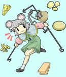 cheese horten lowres mouse mouse_ears mouse_tail nazrin silver_hair tail touhou