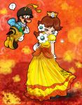 blush crown dress nintendo princess_daisy smile