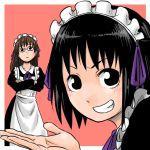 2girls abekawa arashiyama_hotori glasses hair_ribbon maid multiple_girls ribbon soredemo_machi_wa_mawatteiru tatsuno_toshiko