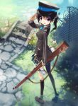 1girl gun highres kankurou original pantyhose twintails uniform weapon