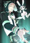 1boy blonde_hair dramatical_murder hat hiki_yuichi holographic_touchscreen male necktie noiz_(dramatical_murder) piercing rabbit