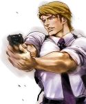 1boy blonde_hair blue_eyes gun keith_goodman mamemo_(daifuku_mame) necktie solo suspenders tiger_&_bunny weapon