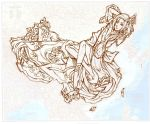 china flower personification personified_map scarlet_(pixiv1632099) sketch solo tagme