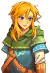 androgynous belt blonde_hair blue_eyes capelet eyelashes gloves link long_hair pointy_ears reema_and solo the_legend_of_zelda zelda_wii_u