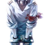 blue_hair hair_over_eyes male reflection rossiu shackle simon tengen_toppa_gurren_lagann umapan