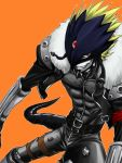 beelzemon digimon digimon_tamers leather male monster red_eyes smile smirk tail yukiji_(mogari)