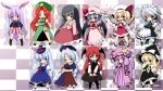 bat_wings black_hair blazer blonde_hair blue_eyes blue_hair book braid broom bunny_ears chibi china_dress chinadress chinese_clothes flandre_scarlet fujisaki_hikari hat head_wings headwings hong_meiling houraisan_kaguya izayoi_sakuya kamishirasawa_keine kirisame_marisa koakuma long_hair maid necktie pantyhose patchouli_knowledge ponytail purple_eyes purple_hair rabbit_ears red_eyes red_hair redhead reisen_udongein_inaba remilia_scarlet short_hair side_ponytail silver_hair touhou twin_braids violet_eyes wings witch_hat yagokoro_eirin yellow_eyes
