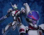 gunpod helmet henry_gilliam macross macross_frontier mecha pilot_suit realistic s.m.s. shield spacesuit vf-25 yutori_(clockwork_chicken)