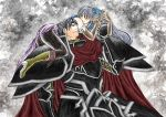 black_knight fire_emblem fire_emblem:_akatsuki_no_megami micaiah silver_hair zelgius