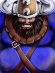beard black_hair erick facial_hair helmet highres horned_helmet manly solo viking world_heroes yatai_no_thito