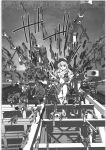 1girl :< annotation_request anti-materiel_rifle assault_rifle barrett_m82 boots bullpup colt_saa cowboy_boots cowboy_hat gate_of_babylon glock grenade_launcher gun handgun hat highres imi_uzi long_hair m16 machine_gun mg42 oka_syohei original remington_870 revolver rifle rocket_launcher rpg rpg-7 shotgun sniper_rifle solo steyr_aug submachine_gun thompson_contender underbarrel_grenade_launcher weapon weapon_request