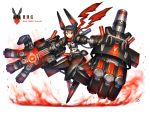 1girl black_hair gia highres original red_eyes short_hair solo weapon