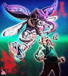 1boy beetle dentures gray_fly_(jojo) jojo_no_kimyou_na_bouken old_man stand_(jojo) tower_of_grey_(stand) uc-lab