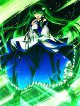 1girl frills green_hair highres kochiya_sanae nekominase solo touhou