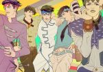 5boys headband jojo_no_kimyou_na_bouken kilva_lollop kishibe_rohan multiple_boys multiple_persona