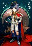 1boy book character_name crescent_moon dated hand_on_hip happy_birthday hat heart highres male moon mortarboard shingetsu_nagisa solo standing star yan'yo_(yan'yan'yo) zettai_zetsubou_shoujo