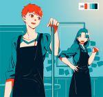 1boy 1girl apron emiya_shirou fate/stay_night fate_(series) hotaruzuka_otoko limited_palette tam_(cuq)