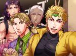 5boys diavolo dio_brando enrico_pucci foxvulpine jojo_no_kimyou_na_bouken kars_(jojo) kira_yoshikage multiple_boys v